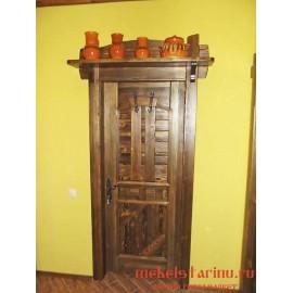 """Дверь под старину из массива дерева """"Заслава"""""""