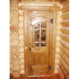 """Дверь под старину из массива дерева """"Зденка"""""""