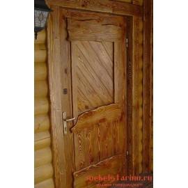 """Дверь под старину из массива дерева """"Златозарка"""""""
