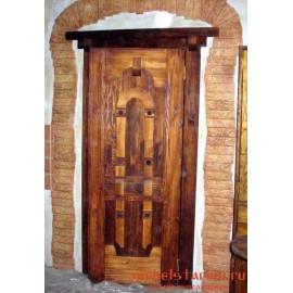 """Дверь под старину из массива дерева """"Лудеслава"""""""
