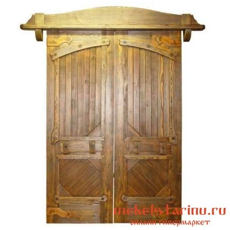 """Дверь под старину из массива дерева """"Милислава"""""""