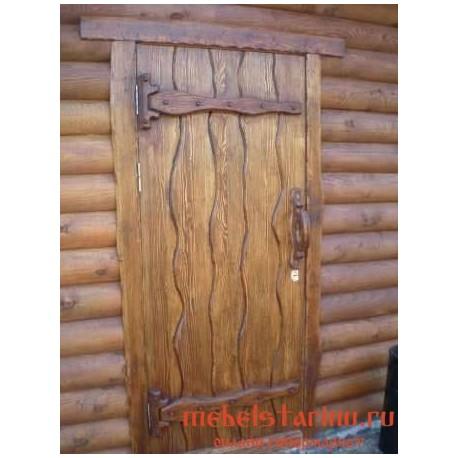 """Дверь под старину из массива дерева """"Всеока"""""""