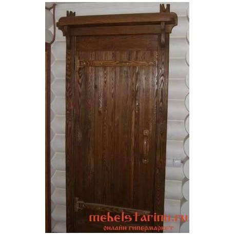 """Дверь под старину из массива дерева """"Гарца"""""""