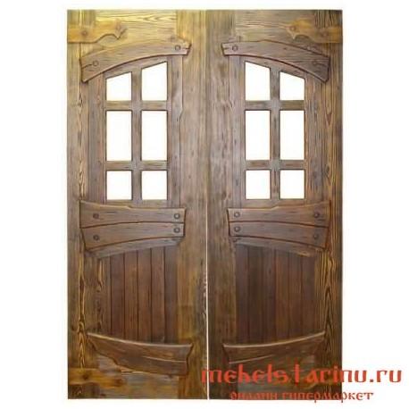 """Дверь под старину из массива дерева """"Изяслава"""""""