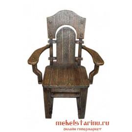 """Кресло под старину из массива дерева """"Тепло"""""""