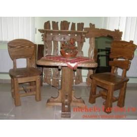 """Столовый комплект под старину из массива дерева """"Борослав"""""""