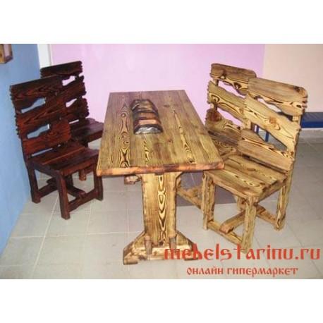 """Столовый комплект под старину из массива дерева """"Боритех"""""""