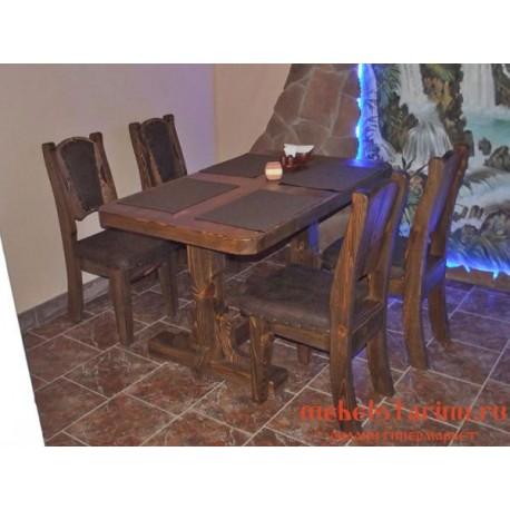 """Столовый комплект под старину из массива дерева """"Браносуд"""""""
