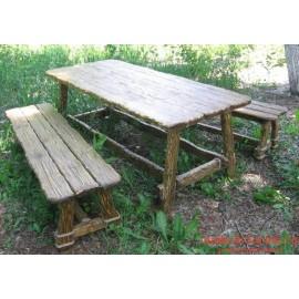 """Столовый комплект под старину из массива дерева """"Варун"""""""