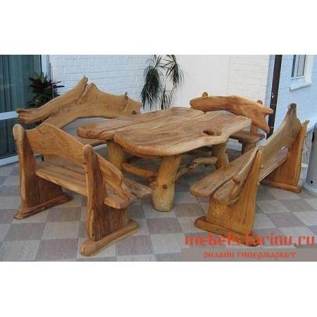 """Столовый комплект под старину из массива дерева """"Велибор"""""""