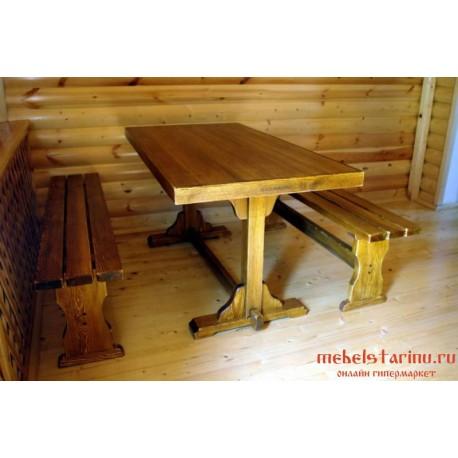 """Столовый комплект под старину из массива дерева """"Великосан"""""""