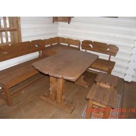"""Столовый комплект под старину из массива дерева """"Всемил"""""""