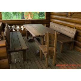 """Столовый комплект под старину из массива дерева """"Вышан"""""""