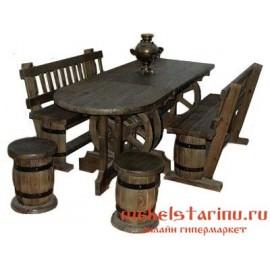 """Столовый комплект под старину из массива дерева """"Вукан"""""""