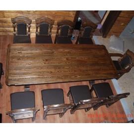 """Столовый комплект под старину из массива дерева """"Всеслав"""""""