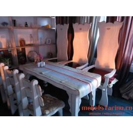 """Столовый комплект под старину из массива дерева """"Горан"""""""