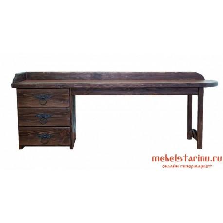 """Стол письменный под старину из массива дерева """"Горяин"""""""