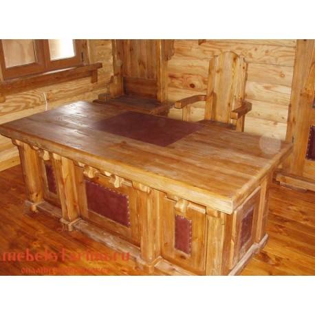 """Стол письменный под старину из массива дерева """"Горазд"""""""