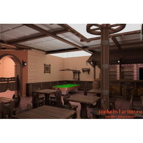 """Мебель для кафе, ресторанов под старину из массива дерева """"Болебор"""""""