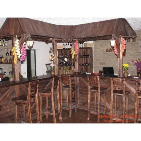 """Мебель для кафе, ресторанов под старину из массива дерева """"Златоцвета"""""""