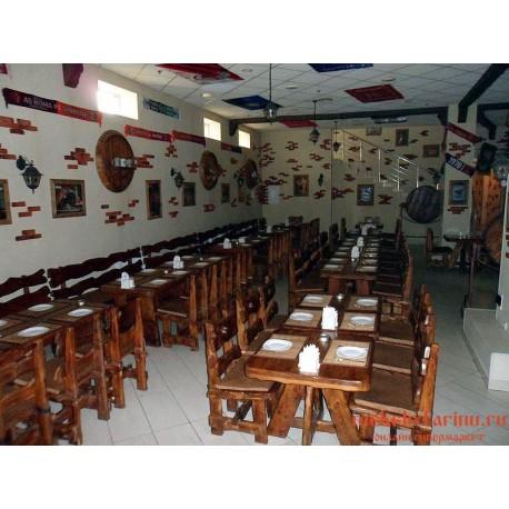 """Мебель для кафе, ресторанов под старину из массива дерева """"Инга"""""""