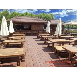 """Мебель для кафе, ресторанов под старину из массива дерева """"Казимира"""""""