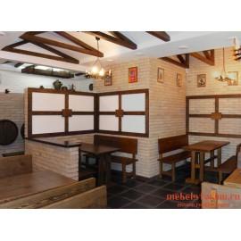 """Мебель для кафе, ресторанов под старину из массива дерева """"Лютица"""""""