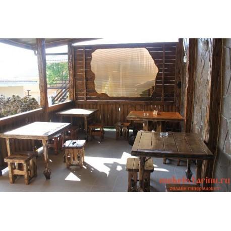 """Мебель для кафе, ресторанов под старину из массива дерева """"Прелеста"""""""