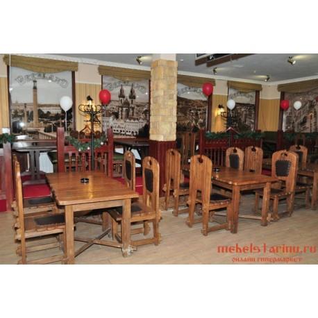 """Мебель для кафе, ресторанов под старину из массива дерева """"Премислава"""""""