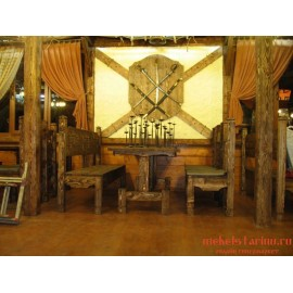 """Мебель для кафе, ресторанов под старину из массива дерева """"Рагосна"""""""