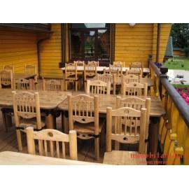 """Мебель для кафе, ресторанов под старину из массива дерева """"Родослава"""""""