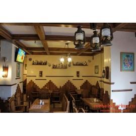 """Мебель для кафе, ресторанов под старину из массива дерева """"Роксана"""""""