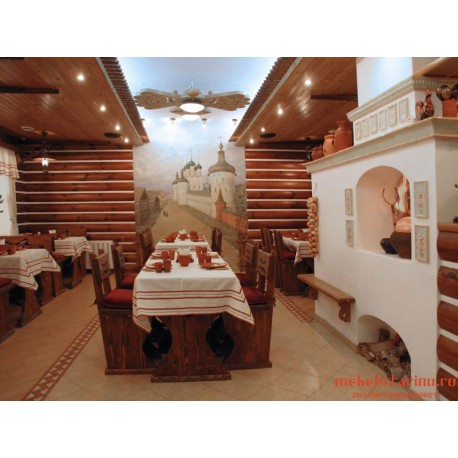 """Мебель для кафе, ресторанов под старину из массива дерева """"Спитослава"""""""