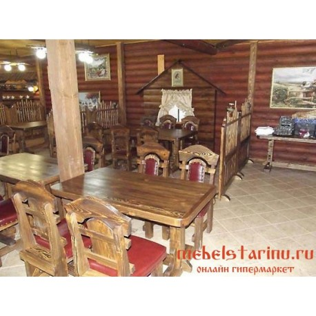 """Мебель для кафе, ресторанов под старину из массива дерева """"Стана"""""""