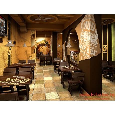 """Мебель для кафе, ресторанов под старину из массива дерева """"Стояна"""""""