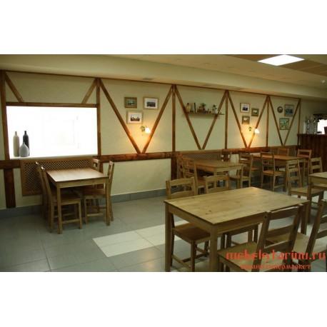 """Мебель для кафе, ресторанов под старину из массива дерева """"Сулена"""""""