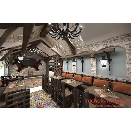 """Мебель для кафе, ресторанов под старину из массива дерева """"Счесна"""""""