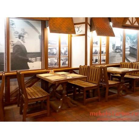 """Мебель для кафе, ресторанов под старину из массива дерева """"Тамара"""""""
