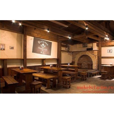 """Мебель для кафе, ресторанов под старину из массива дерева """"Твердислава"""""""