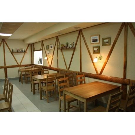 """Мебель для кафе, ресторанов под старину из массива дерева """"Убава"""""""