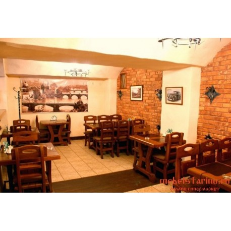 """Мебель для кафе, ресторанов под старину из массива дерева """"Убинега"""""""