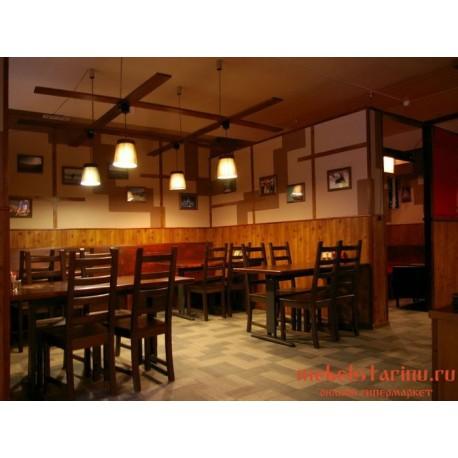 """Мебель для кафе, ресторанов под старину из массива дерева """"Удеса"""""""