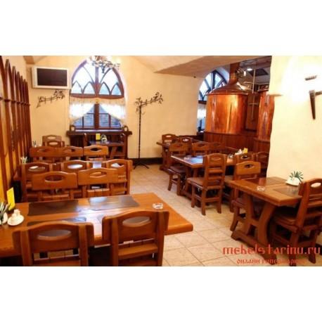 """Мебель для кафе, ресторанов под старину из массива дерева """"Услада"""""""