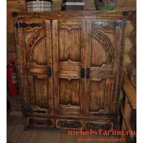 "Шкаф под старину из массива дерева ""Клюкас"""