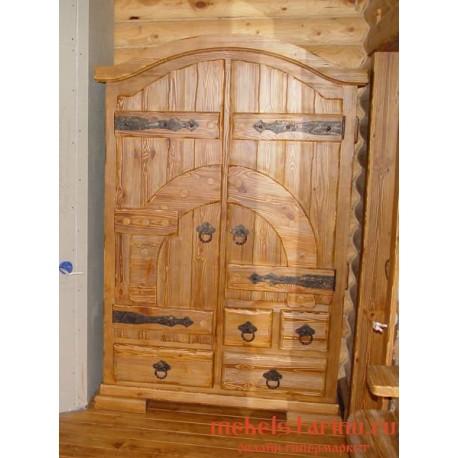 """Шкаф под старину из массива дерева """"Копыл"""""""